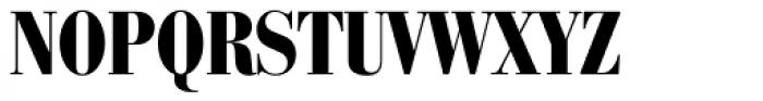 Bauer Bodoni Black Condensed Font UPPERCASE