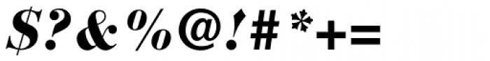 Bauer Bodoni Black Italic Font OTHER CHARS