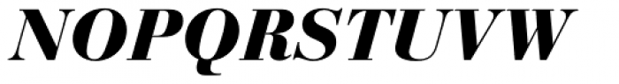 Bauer Bodoni Black Italic Font UPPERCASE