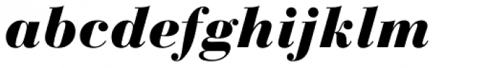 Bauer Bodoni Black Italic Font LOWERCASE