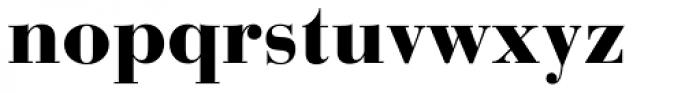 Bauer Bodoni Black Font LOWERCASE