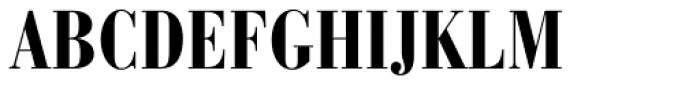 Bauer Bodoni Bold Condensed Font UPPERCASE
