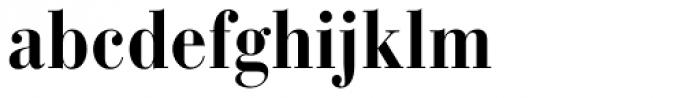 Bauer Bodoni Bold Condensed Font LOWERCASE