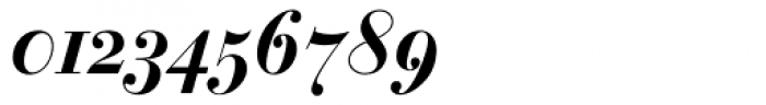 Bauer Bodoni Bold Italic Oldstyle Figures Font OTHER CHARS