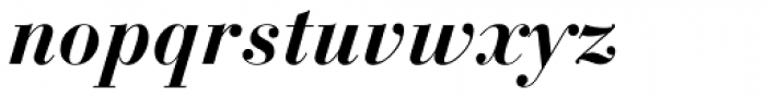 Bauer Bodoni Bold Italic Oldstyle Figures Font LOWERCASE