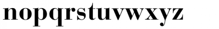 Bauer Bodoni Bold Oldstyle Figures Font LOWERCASE