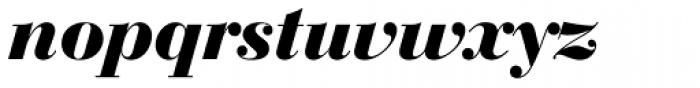 Bauer Bodoni D Bold Italic Font LOWERCASE