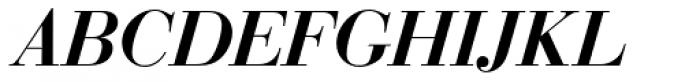 Bauer Bodoni D Demi Bold Italic Font UPPERCASE