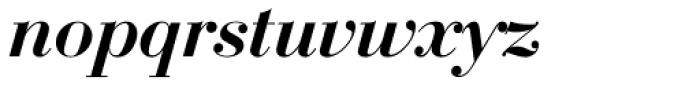Bauer Bodoni D Demi Bold Italic Font LOWERCASE