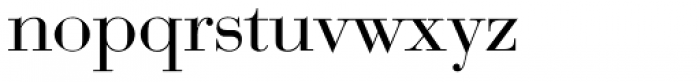 Bauer Bodoni D Regular Font LOWERCASE