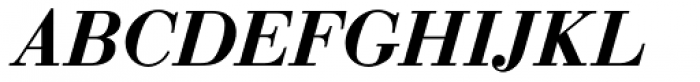 Bauer Bodoni Demi Bold Italic Font UPPERCASE