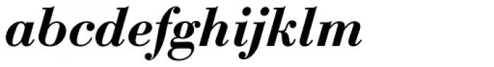 Bauer Bodoni Demi Bold Italic Font LOWERCASE