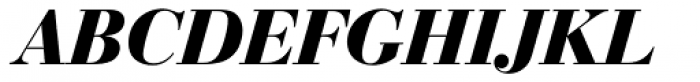 Bauer Bodoni EF Bold Italic Font UPPERCASE