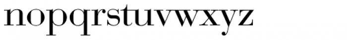 Bauer Bodoni EF Regular Font LOWERCASE