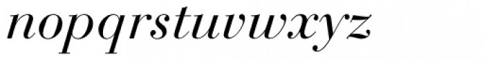 Bauer Bodoni Italic Oldstyle Figures Font LOWERCASE