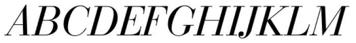 Bauer Bodoni Italic Font UPPERCASE