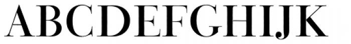 Bauer Bodoni Titling Font UPPERCASE