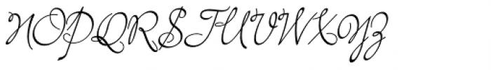 Bayern Handschrift NF Font UPPERCASE