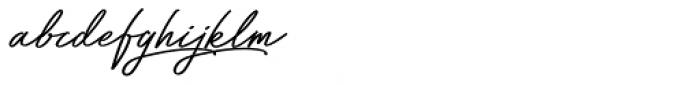 Bayshore Font LOWERCASE
