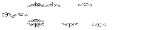 Bazaruto Ornaments Font LOWERCASE