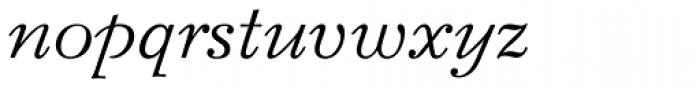 Bazhanov Italic Font LOWERCASE
