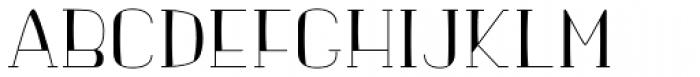 banister Light SemiCondensed Loaded Font UPPERCASE