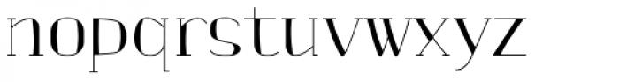 banister Light SemiCondensed Loaded Font LOWERCASE