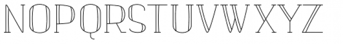 banister Light SemiCondensed Font UPPERCASE