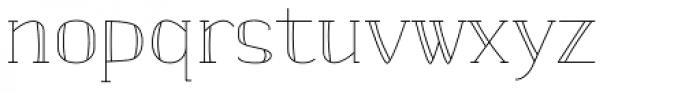 banister Light SemiCondensed Font LOWERCASE