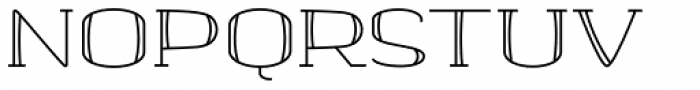 banister Regular SemiExpanded Font UPPERCASE