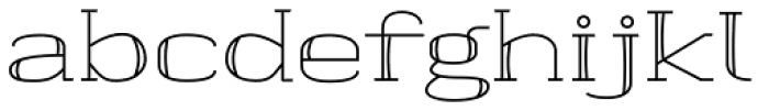 banister Regular SemiExpanded Font LOWERCASE