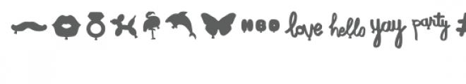 balloon shapes dingbats font Font UPPERCASE