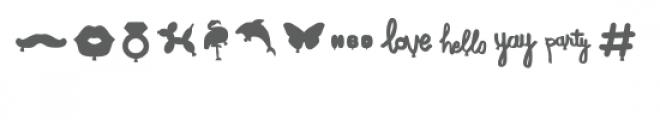 balloon shapes dingbats font Font LOWERCASE
