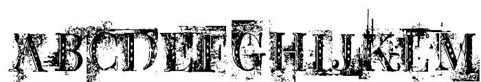 BB Petie Boy Destroyed Font UPPERCASE