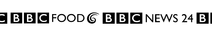 BBC Striped Channel Logos Font UPPERCASE