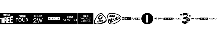 BBC TV Channel Logos Font UPPERCASE