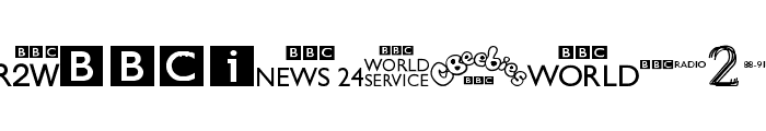 BBC TV Channel Logos Font LOWERCASE