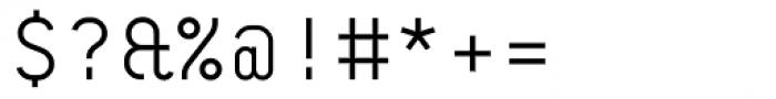 BB Roller Mono Pro Headline Semi Regular Font OTHER CHARS