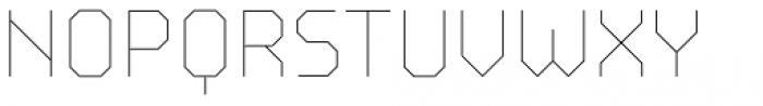 BB Strata Pro Monoline Skeleton Font UPPERCASE