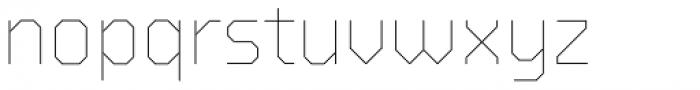 BB Strata Pro Monoline Skeleton Font LOWERCASE