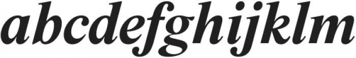 BD Megalona Bold Italic otf (700) Font LOWERCASE