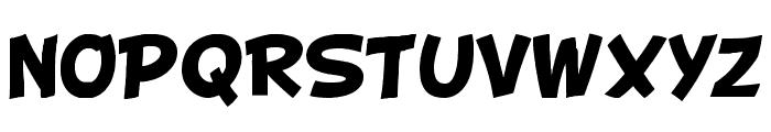 BD Cartoon Shout Font UPPERCASE