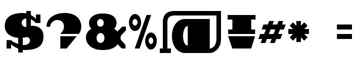 BDBroadband Font OTHER CHARS