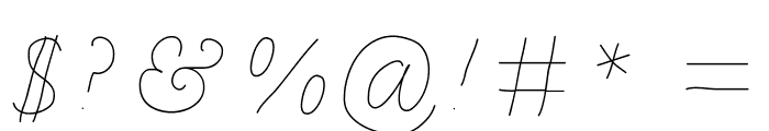 BDCalais Font OTHER CHARS