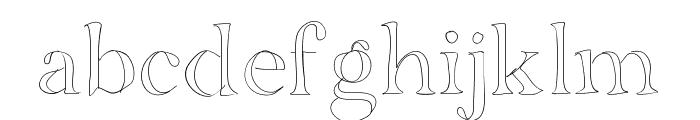 BDGrenoble Font LOWERCASE