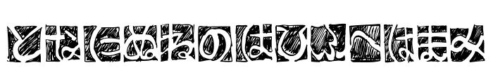 BDHiraganaKuro Font UPPERCASE