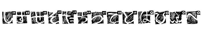 BDHiraganaKuro Font LOWERCASE