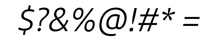 BDP Clien Italic Font OTHER CHARS