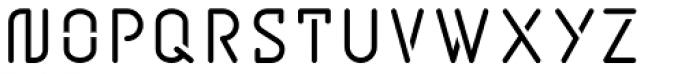 BD Jupiter Stencil Font UPPERCASE
