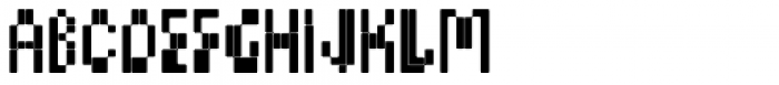 BD Micron Font Condensed Font LOWERCASE